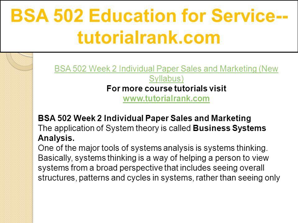BSA 502 Education for Service-- tutorialrank com - ppt download