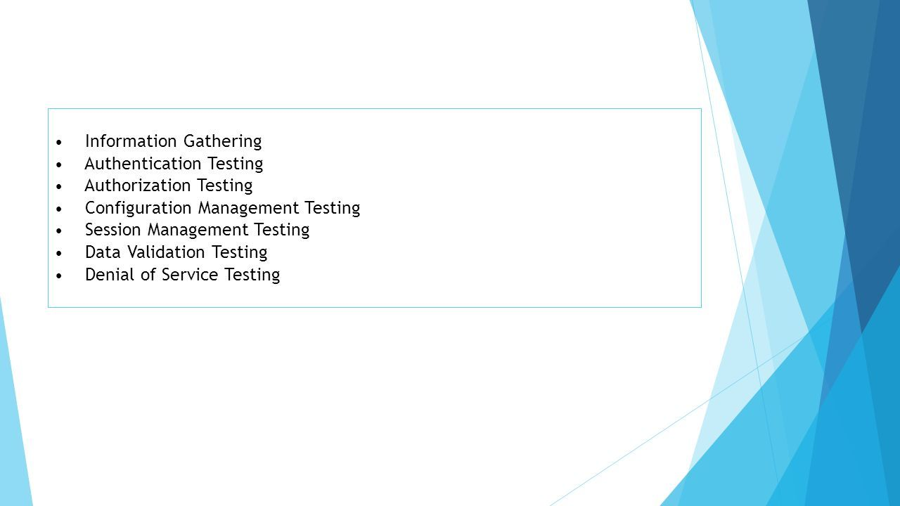 Web Application Security Testing Checklist Attributable to the broad