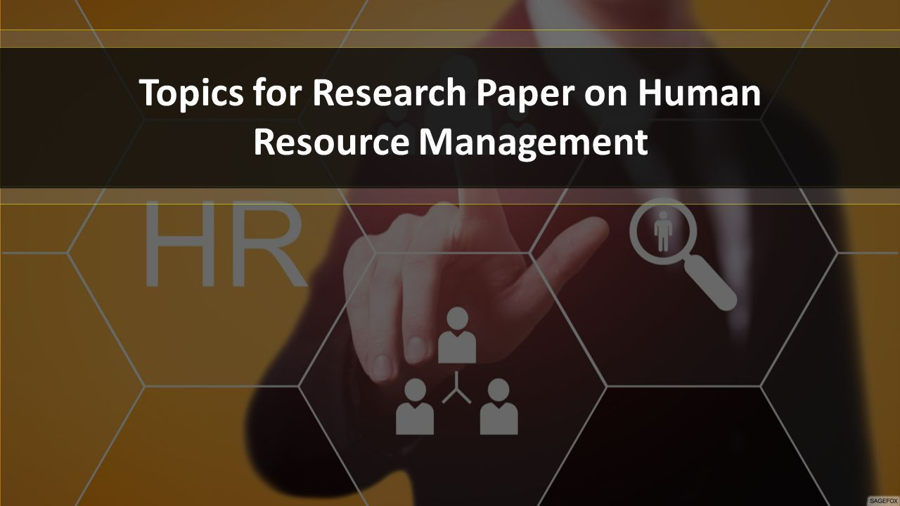 hr topics for research paper