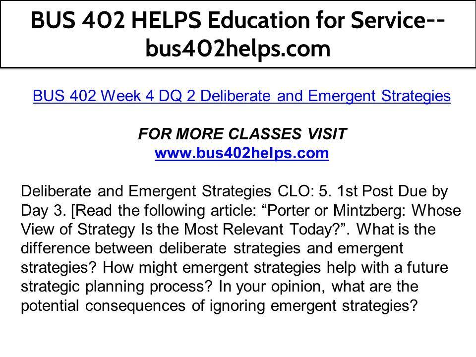 mintzberg emergent strategy pdf
