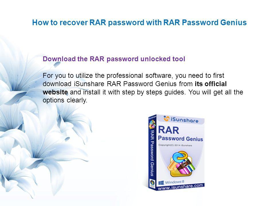 rar password genius professional free download