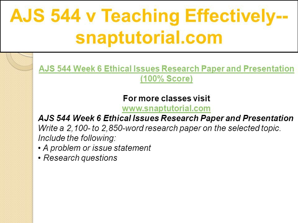 ethical issues research paper