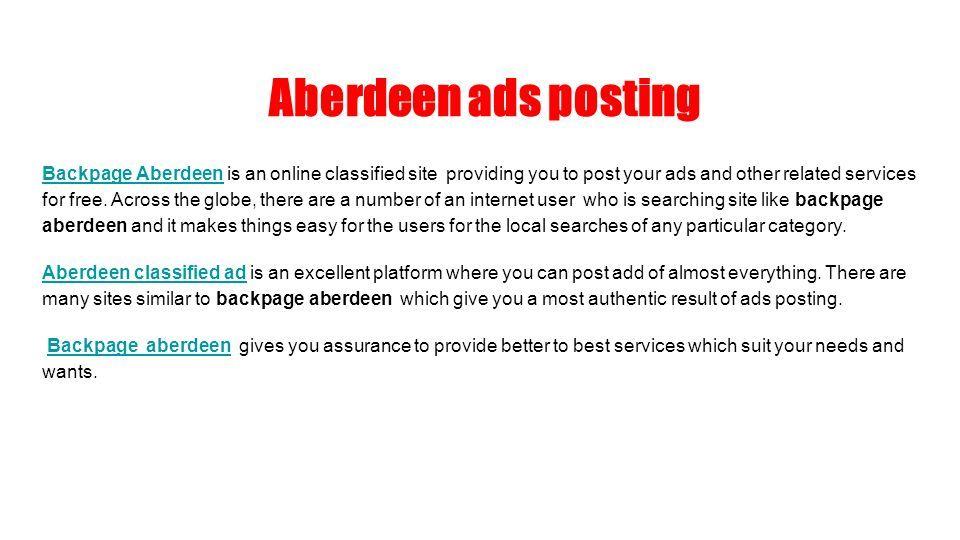 Free ads aberdeen