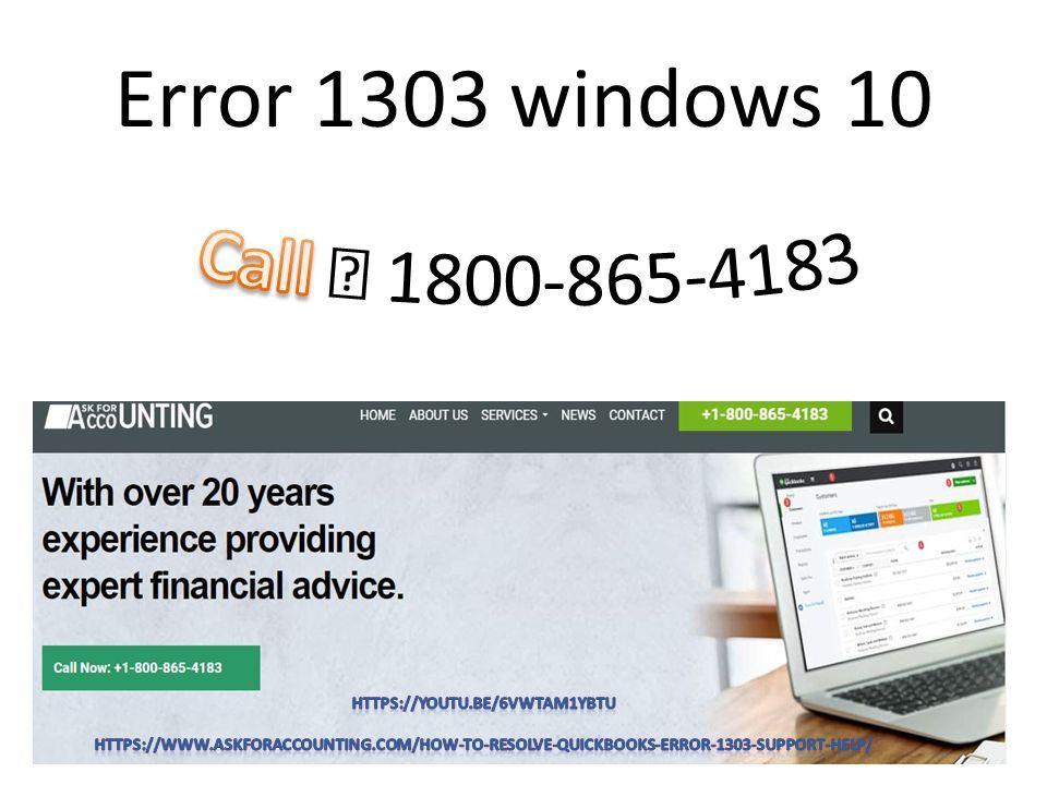 Resolve QuickBooks Error 1303 QuickBooks Error 1303