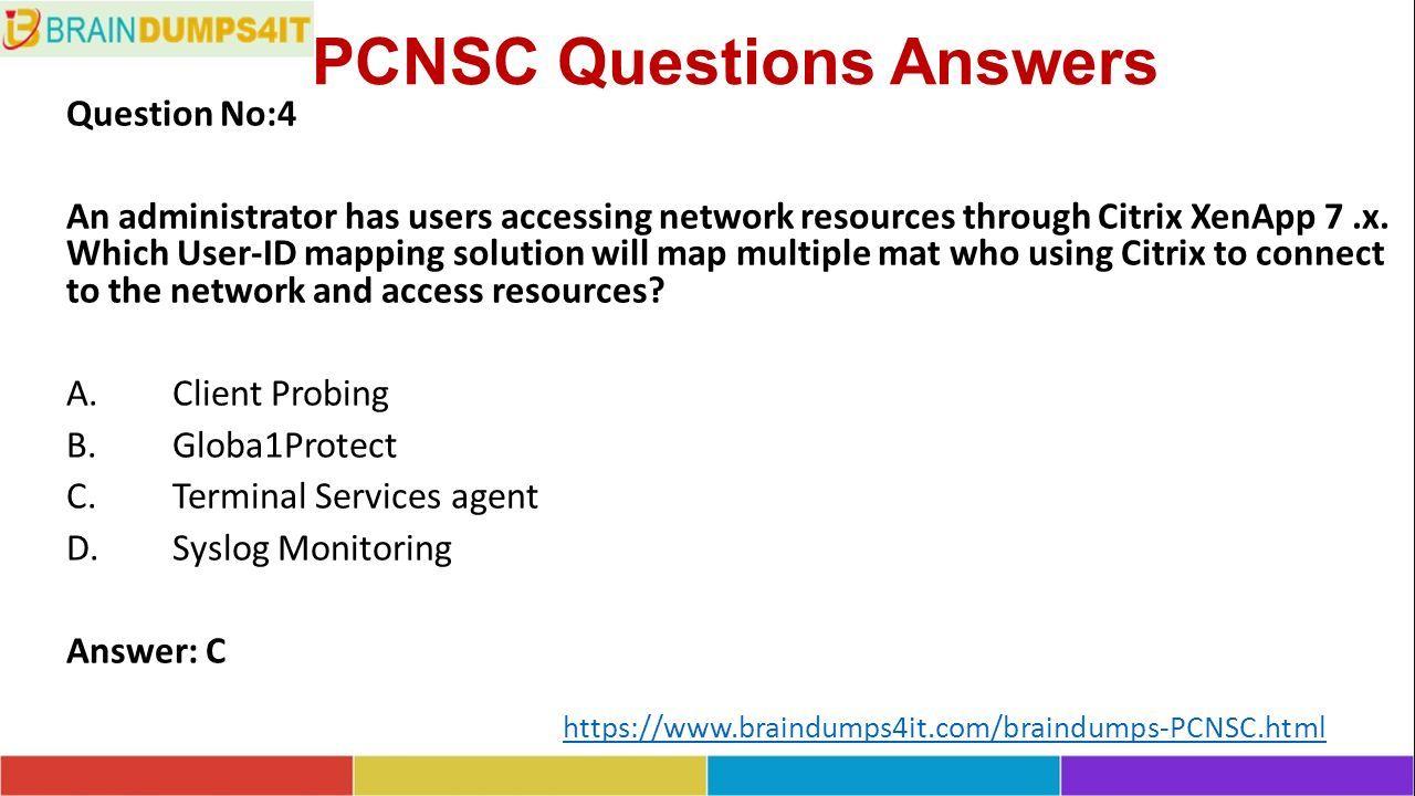 PCNSC Dumps Questions - ppt download