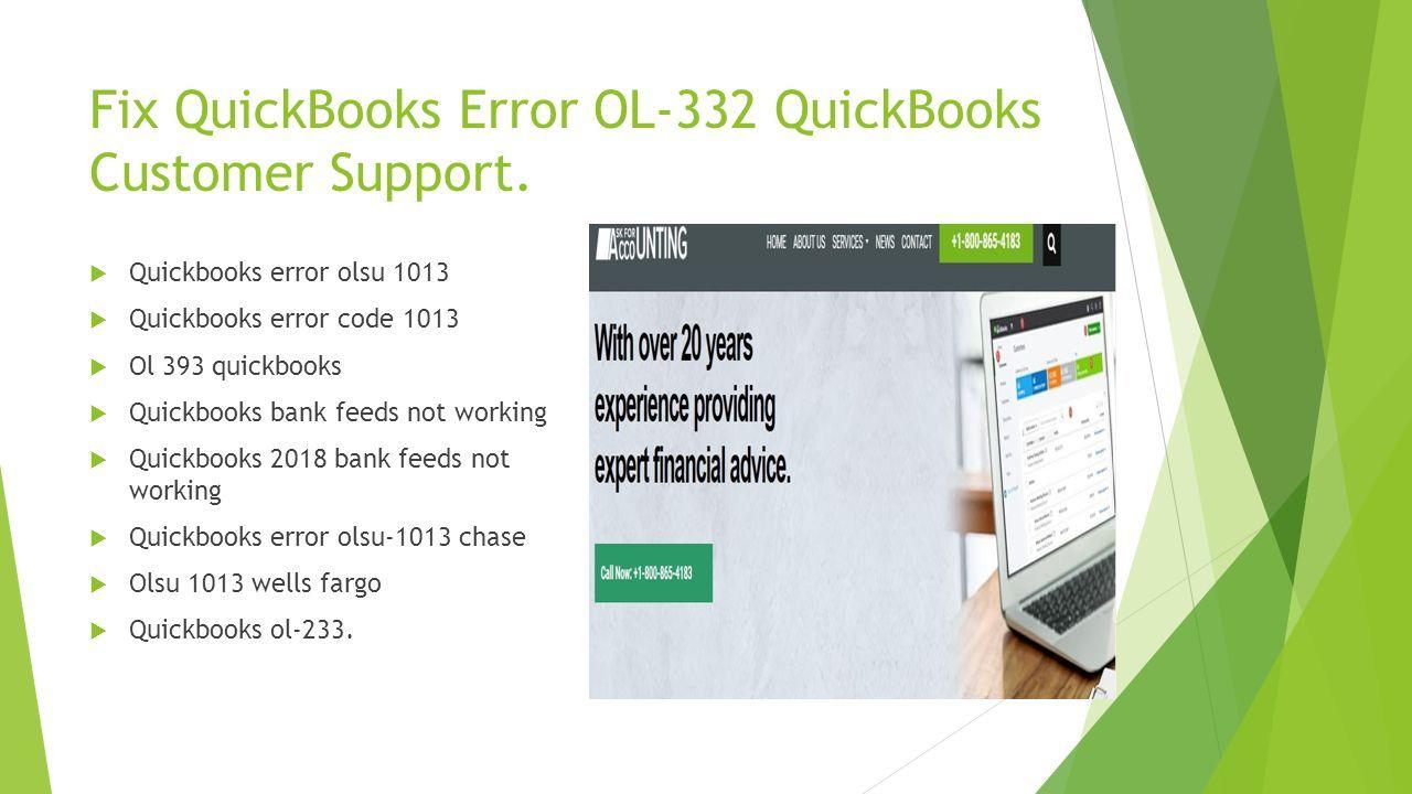 How to Solve QuickBooks Error OL-332 Get resolve your QuickBooks
