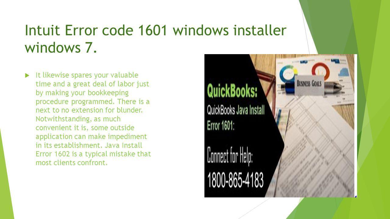 How to Fix Windows Installer Error 1601 QuickBooks Error 1601 \u2013 Fix