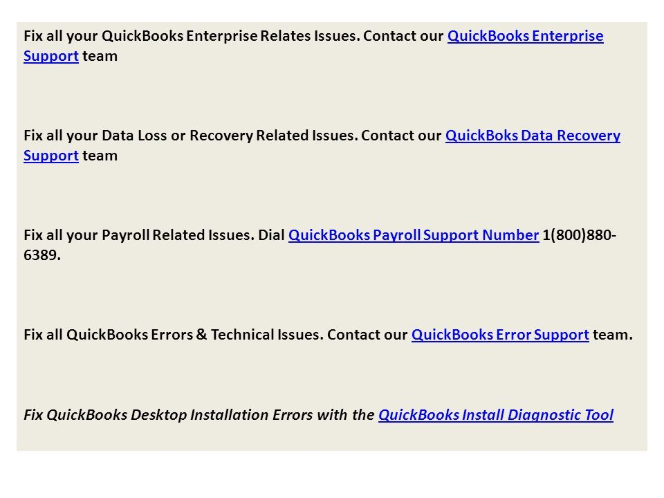 Fix all your QuickBooks Enterprise Relates Issues.