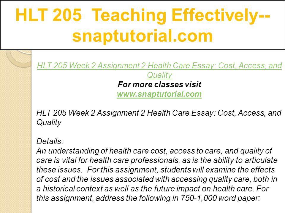 hlt  teaching effectively   snaptutorialcom   ppt download hlt  teaching effectively   snaptutorialcom hlt  week  assignment   health
