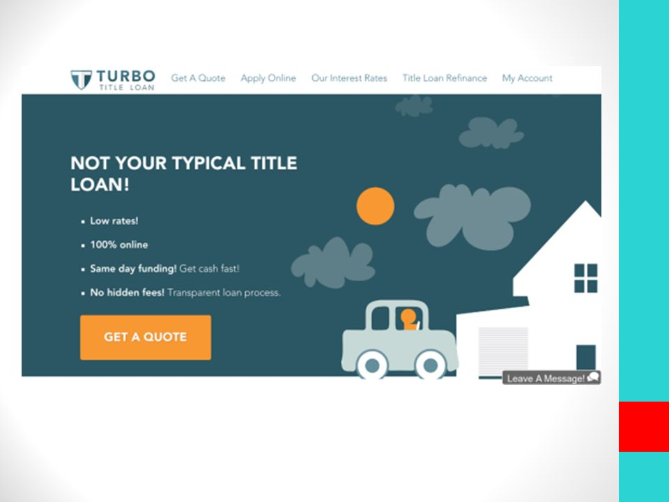 Turbo Title Loan >> Top 10 Online Title Loans Presented By Plungedindebt Com