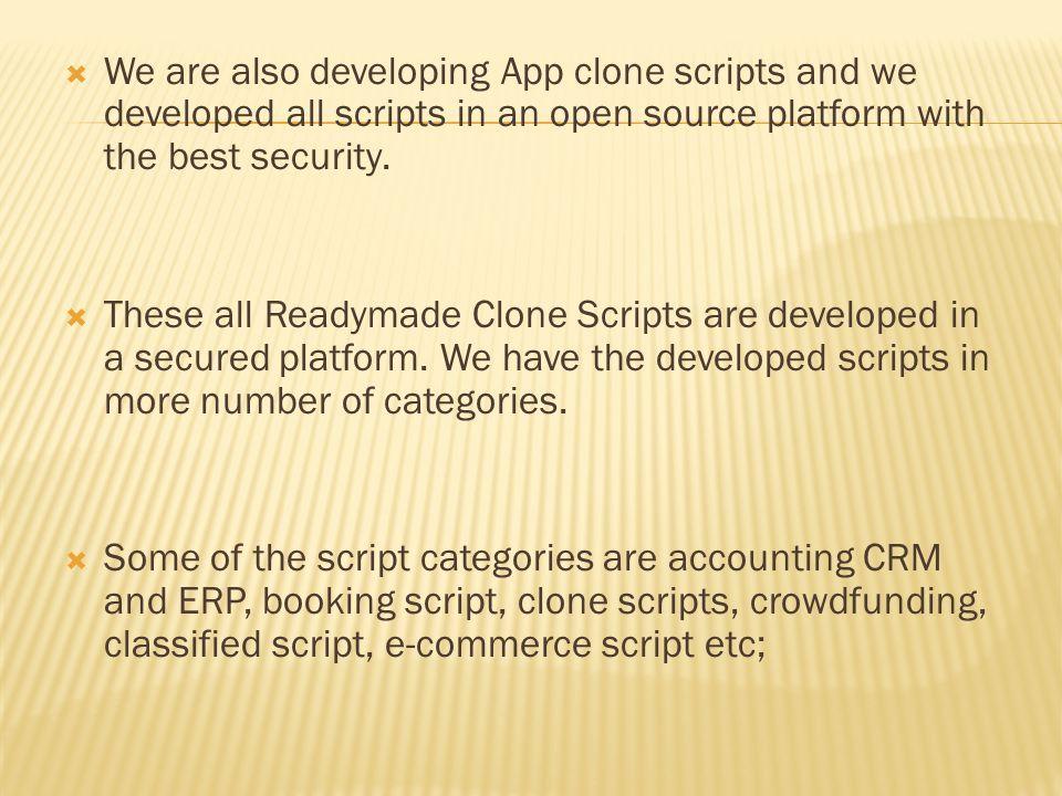 Php clone Script - App clone scripts | Readymade Clone Scripts