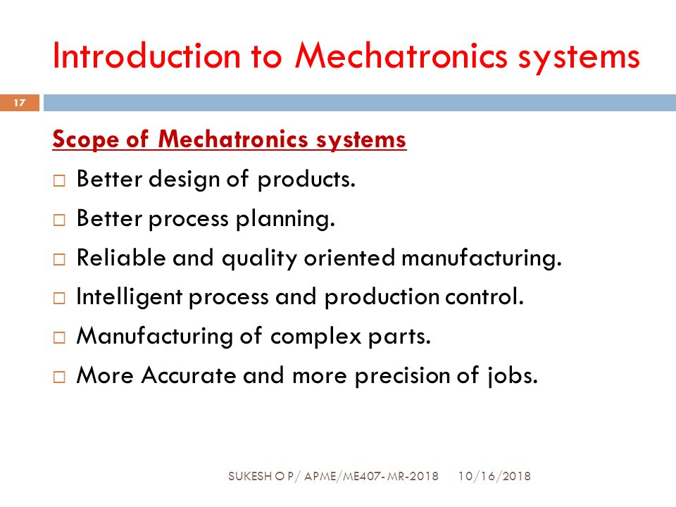 Introduction to mechatronics - ppt download