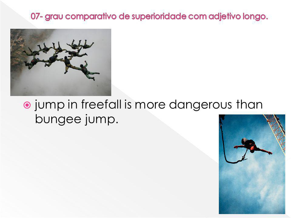  jump in freefall is more dangerous than bungee jump.