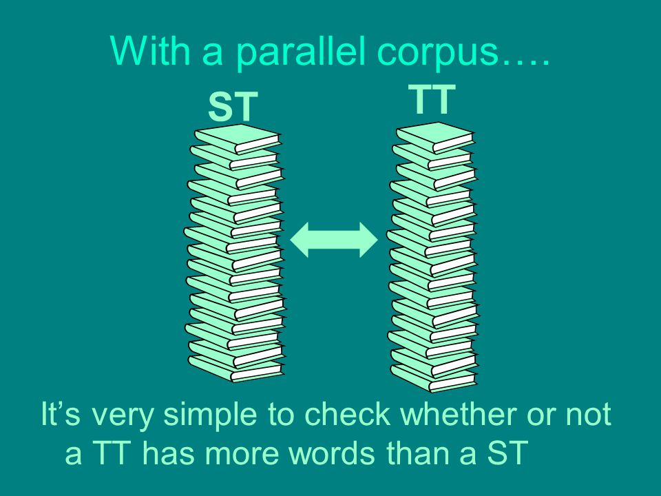 With a parallel corpus….