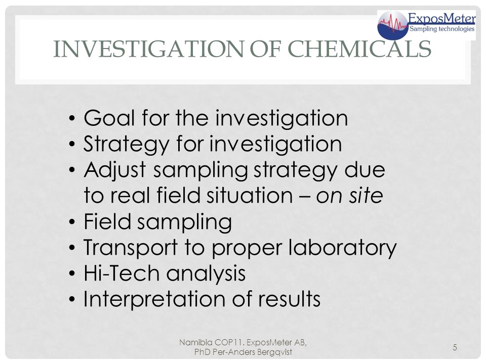 INVESTIGATION OF CHEMICALS Namibia COP11.