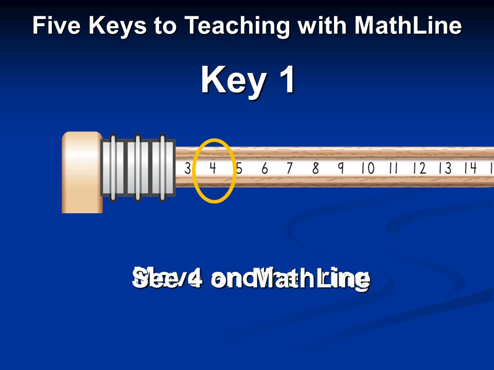 Move another ring See 4 on MathLine Key 1 Five Keys to Teaching with MathLine