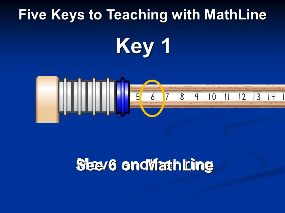 Move another ring See 6 on MathLine Key 1 Five Keys to Teaching with MathLine