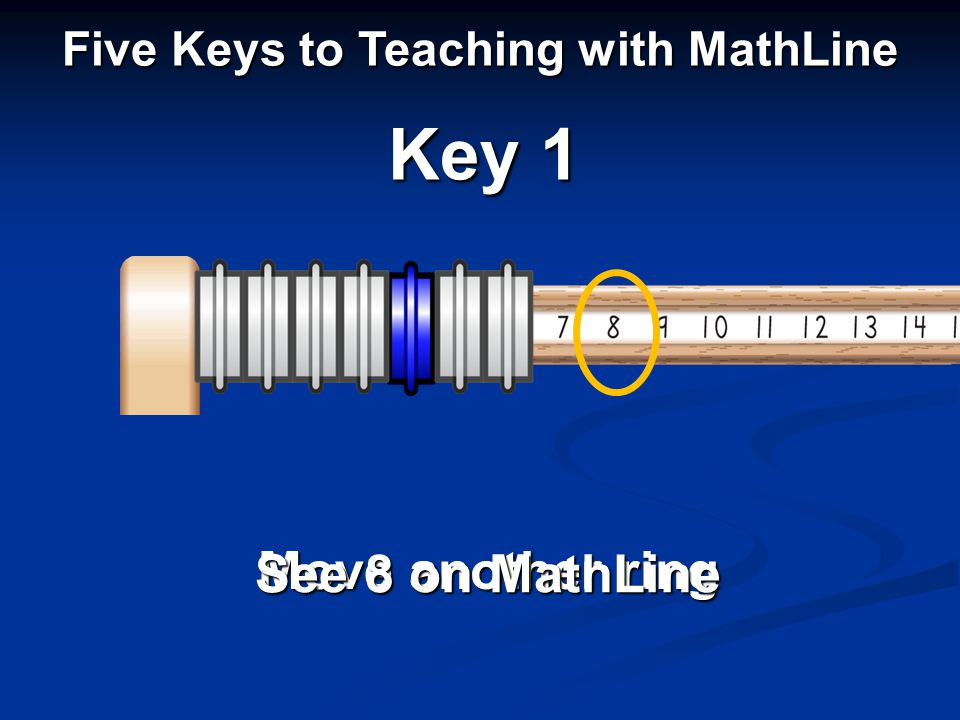 Move another ring See 8 on MathLine Key 1 Five Keys to Teaching with MathLine