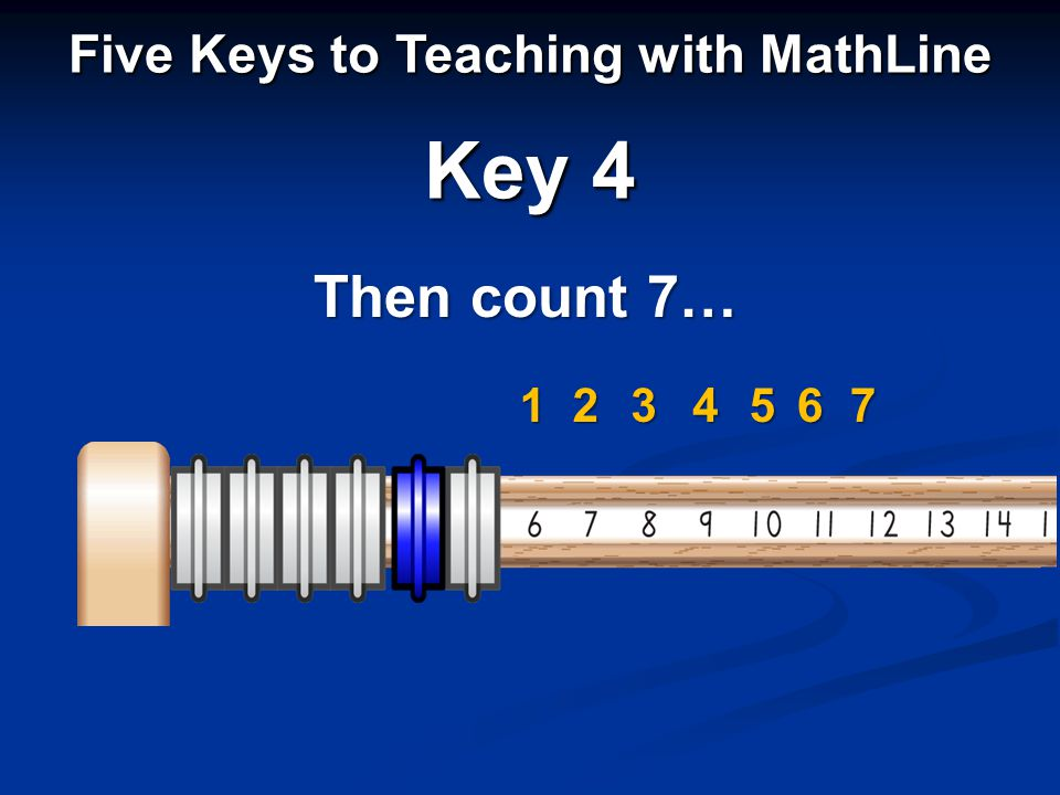 Then count 7… Five Keys to Teaching with MathLine Key 4 1234567
