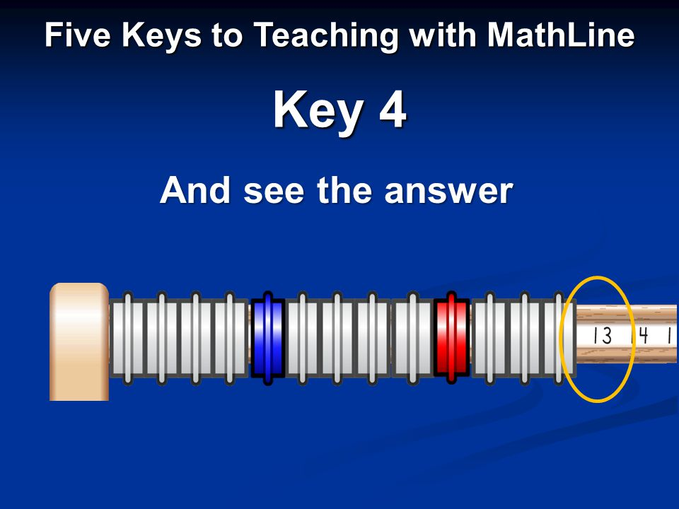 And see the answer Five Keys to Teaching with MathLine Key 4