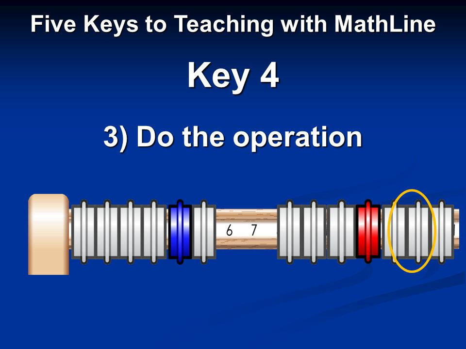 Five Keys to Teaching with MathLine Key 4 3) Do the operation
