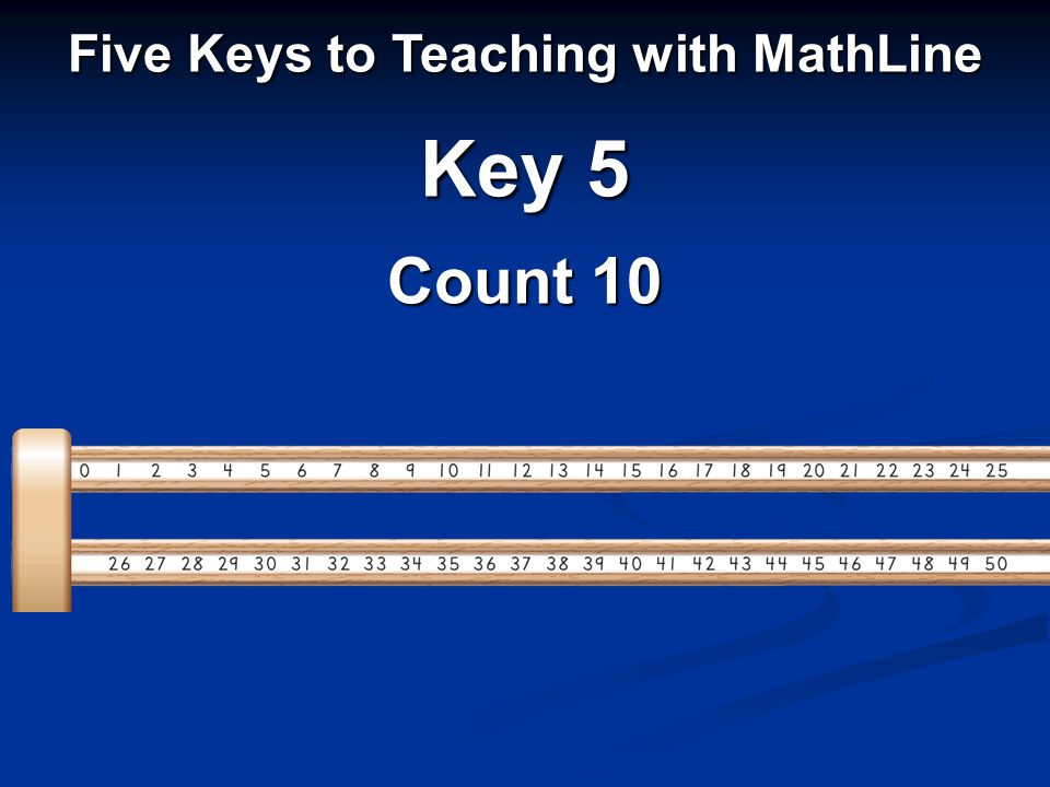 Five Keys to Teaching with MathLine Key 5 Count 10