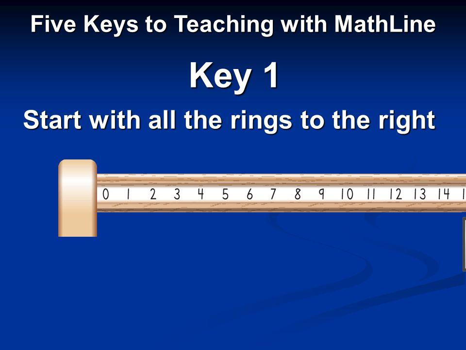 Start with all the rings to the right Five Keys to Teaching with MathLine Key 1