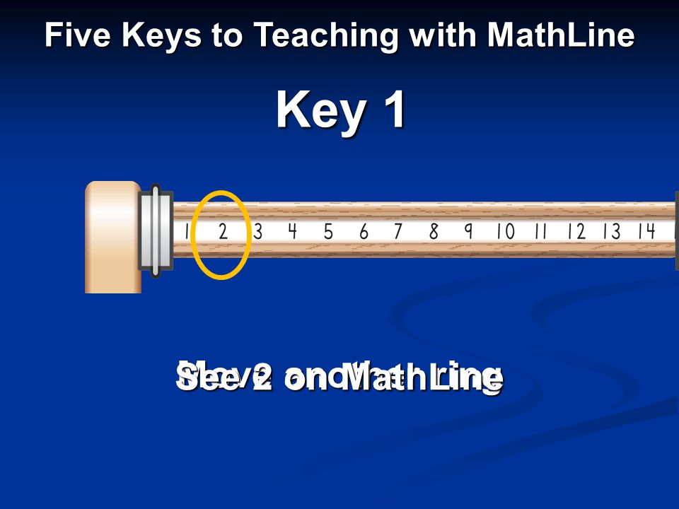 Move another ring See 2 on MathLine Key 1 Five Keys to Teaching with MathLine