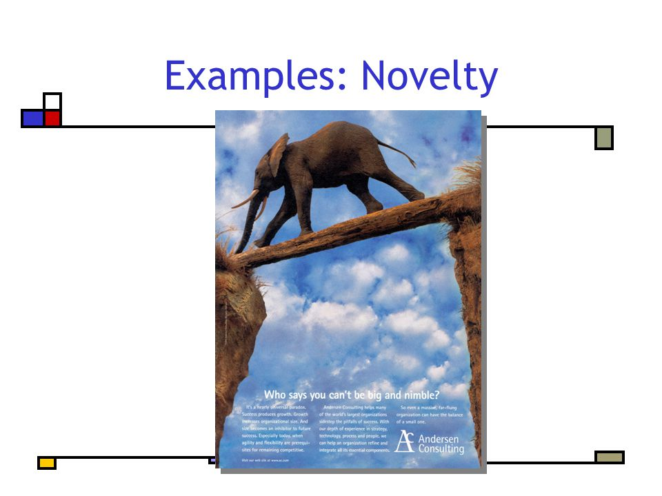 Examples: Novelty