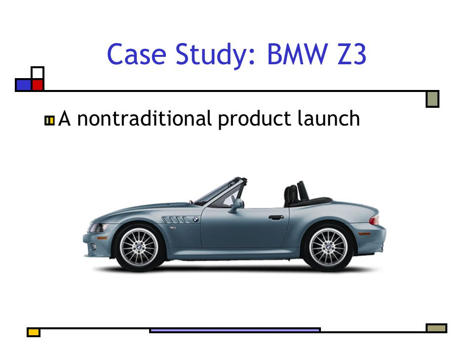 Case Study: BMW Z3 A nontraditional product launch