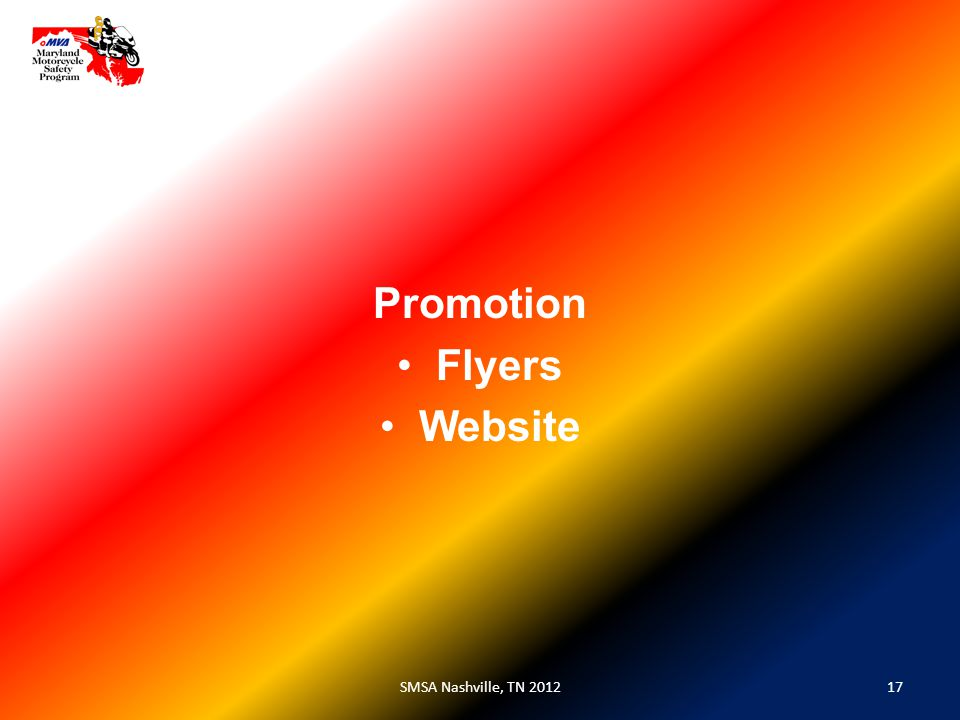 17SMSA Nashville, TN 2012 Promotion Flyers Website
