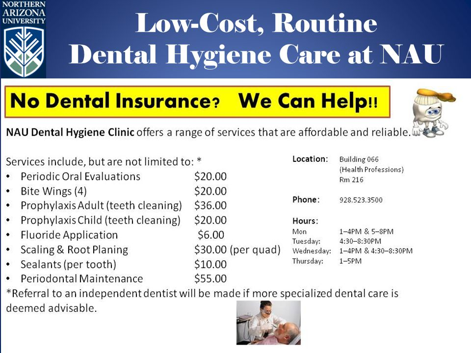 Low-Cost, Routine Dental Hygiene Care at NAU