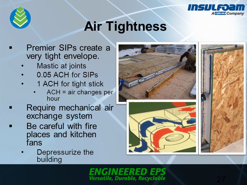 Air Tightness  Premier SIPs create a very tight envelope.