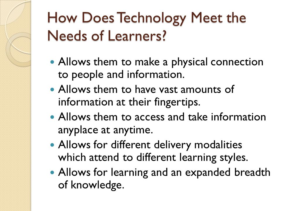 How Does Technology Meet the Needs of Learners.