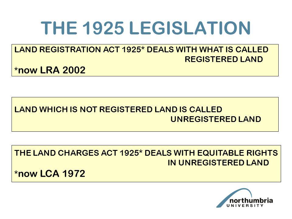 registered and unregistered land