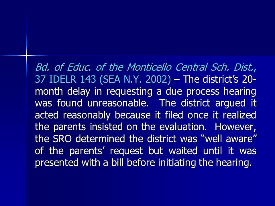 Bd. of Educ. of the Monticello Central Sch. Dist., 37 IDELR 143 (SEA N.Y.