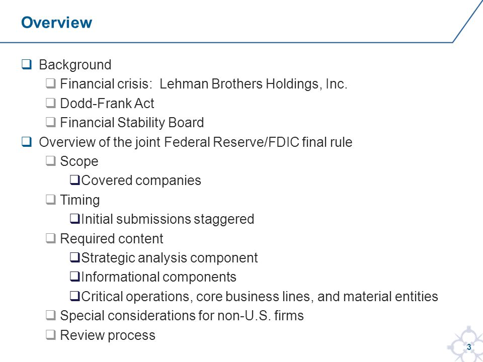 3  Background  Financial crisis: Lehman Brothers Holdings, Inc.