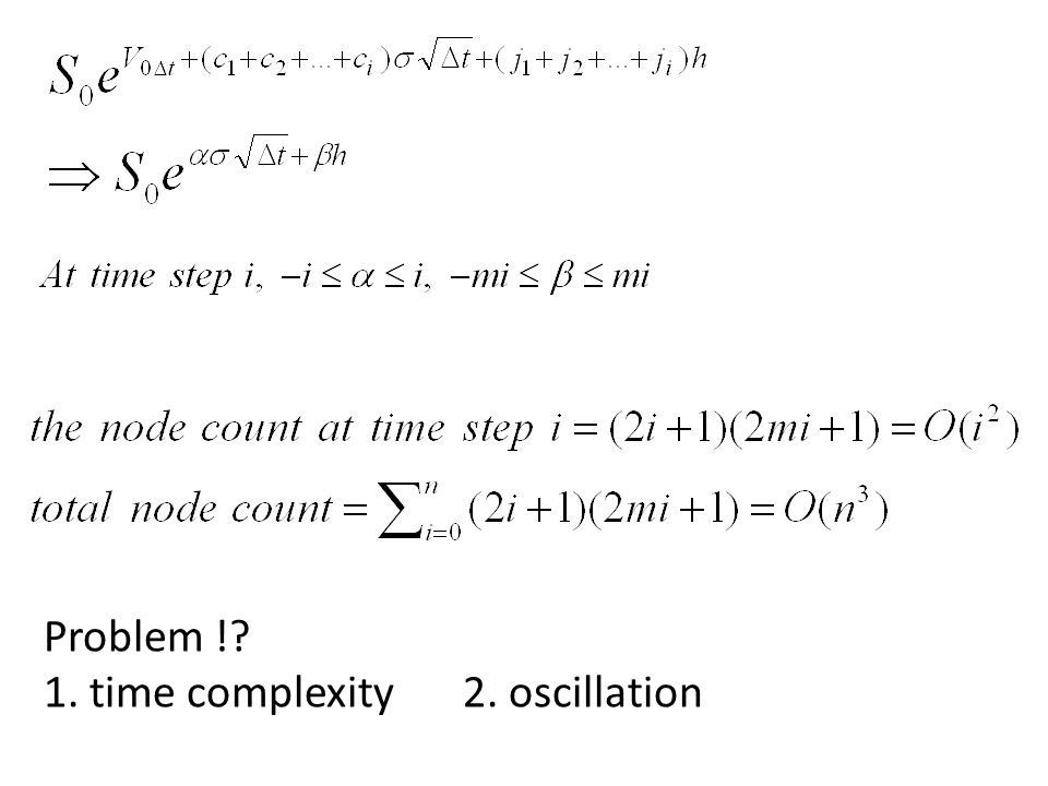 Problem ! 1. time complexity2. oscillation
