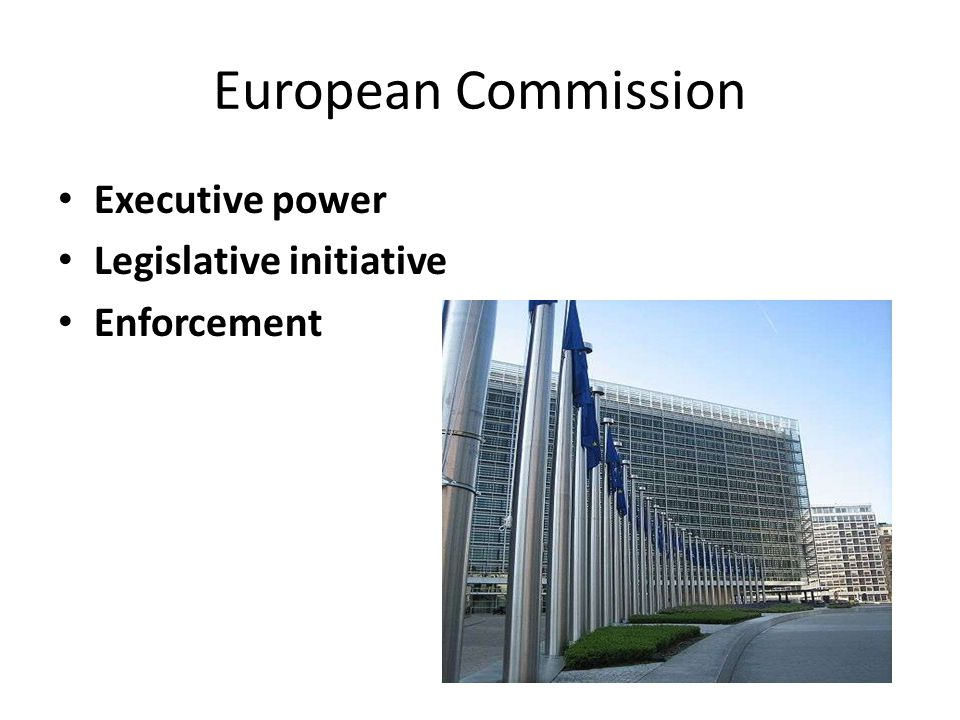 European Commission Executive power Legislative initiative Enforcement