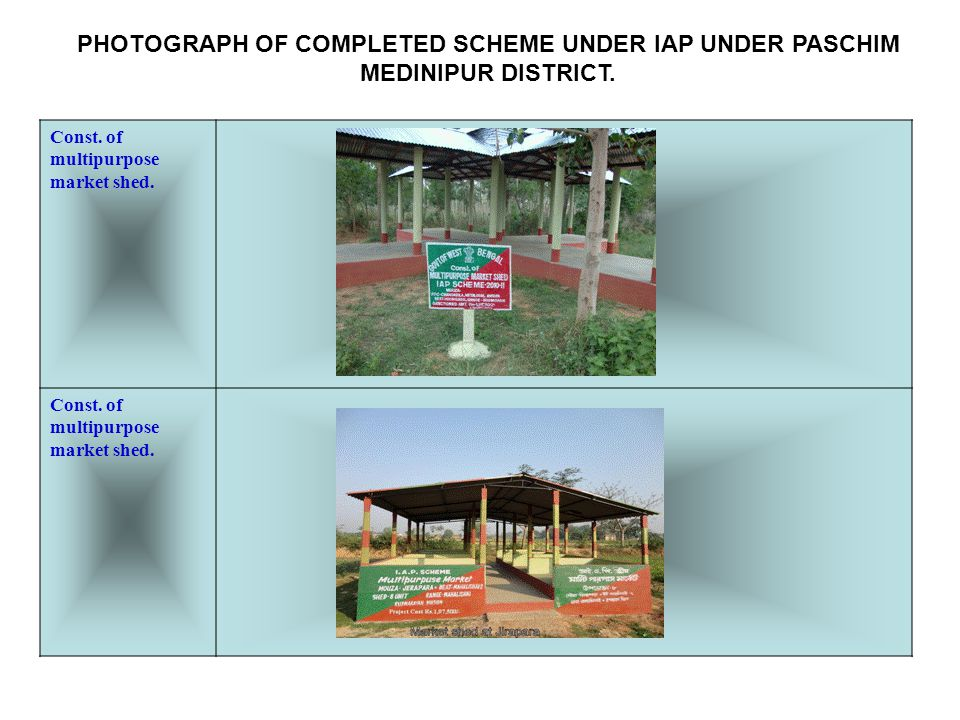 Const. of multipurpose market shed.