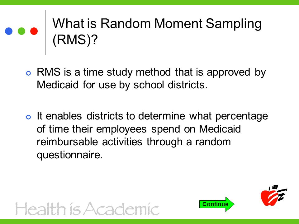 What is Random Moment Sampling (RMS).