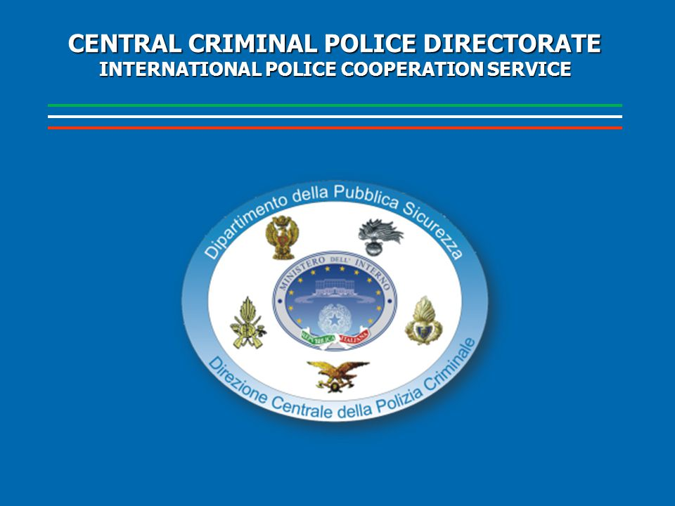 CENTRAL CRIMINAL POLICE DIRECTORATE INTERNATIONAL POLICE COOPERATION SERVICE