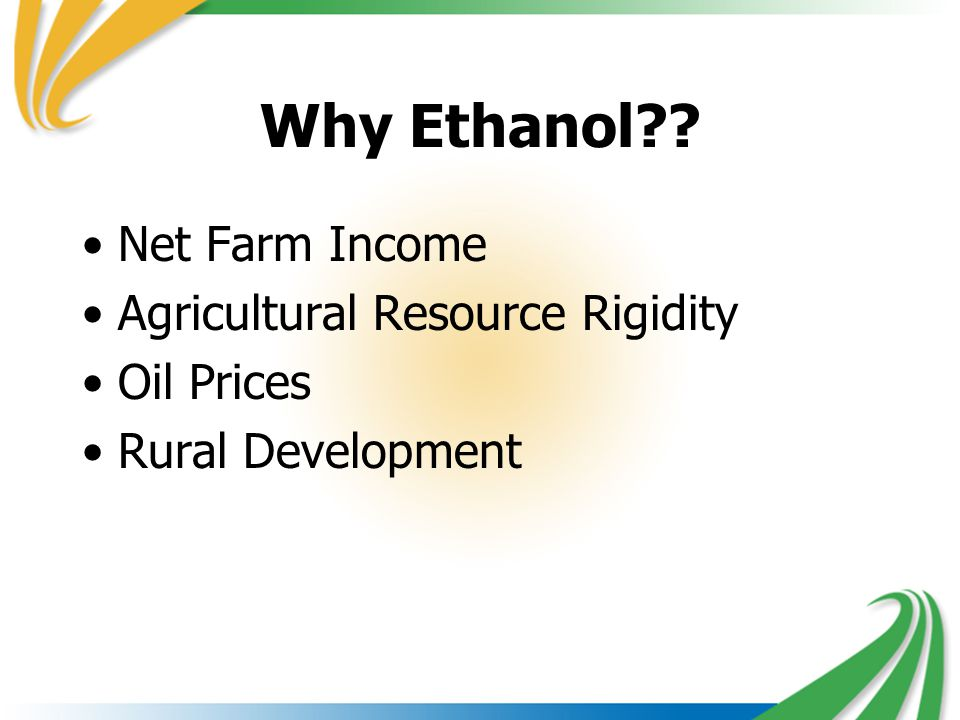 Why Ethanol Net Farm Income Agricultural Resource Rigidity Oil Prices Rural Development