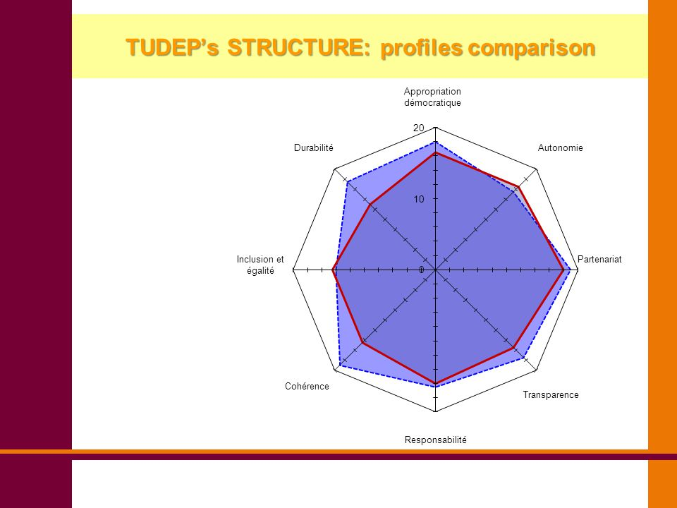 TUDEP's STRUCTURE: profiles comparison