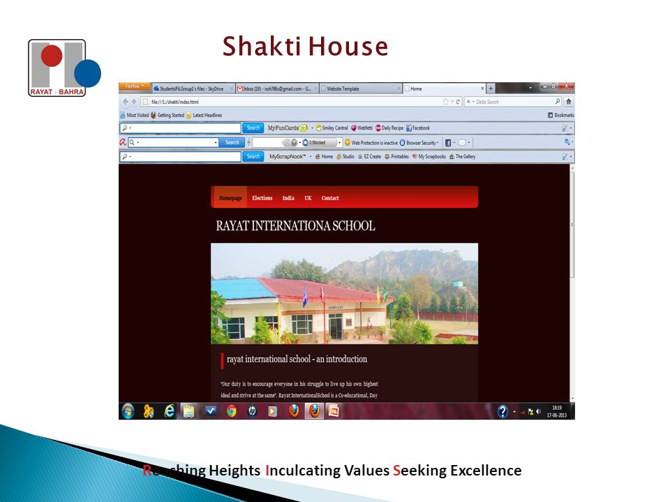 Shakti House Reaching Heights Inculcating Values Seeking Excellence