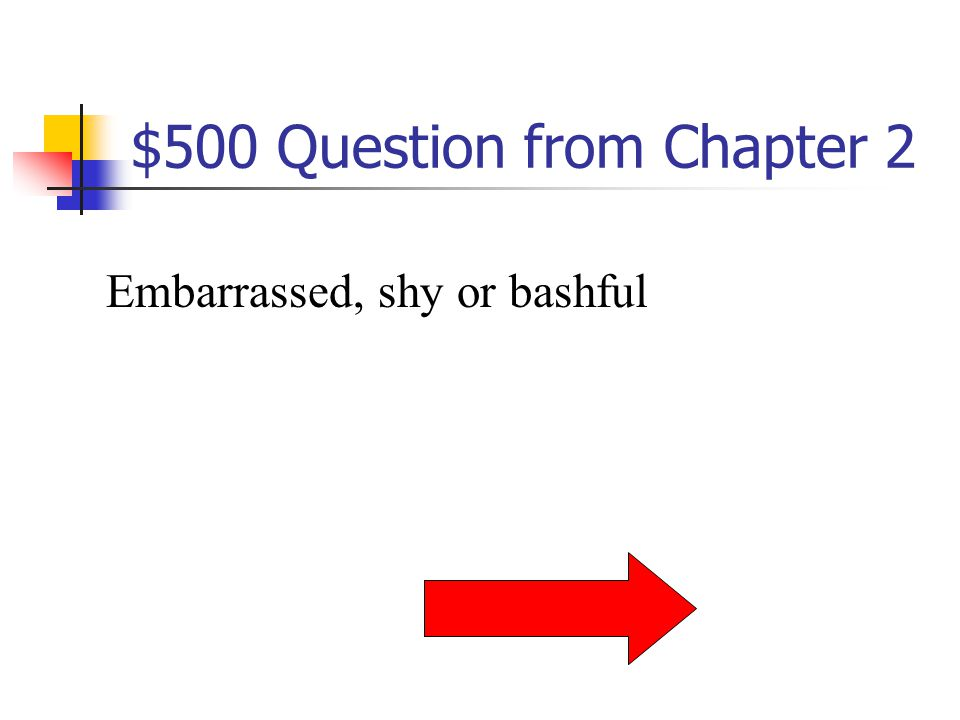 $400 Answer from Chapter 2 What is fretfully