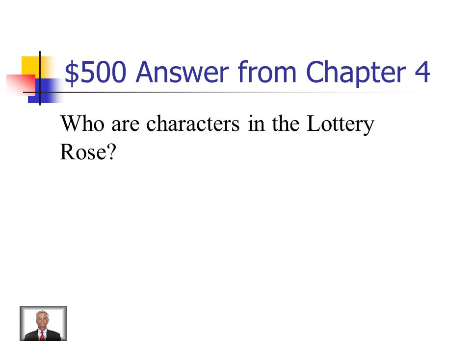 $500 Question from Chapter 4