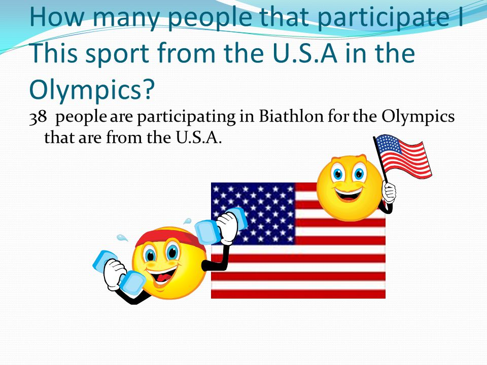 How many people that participate I This sport from the U.S.A in the Olympics.