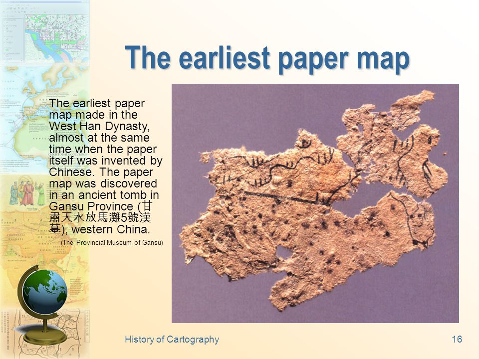 History of Cartography15 Ancient mechanic devices The compass coach invented in the Three- Nation eras ( 三國, 220- 280 A.D.).
