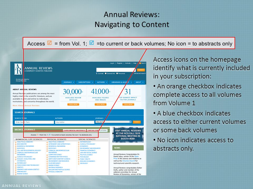 Annual Reviews A Nonprofit Scientific Publisher Bringing The Best